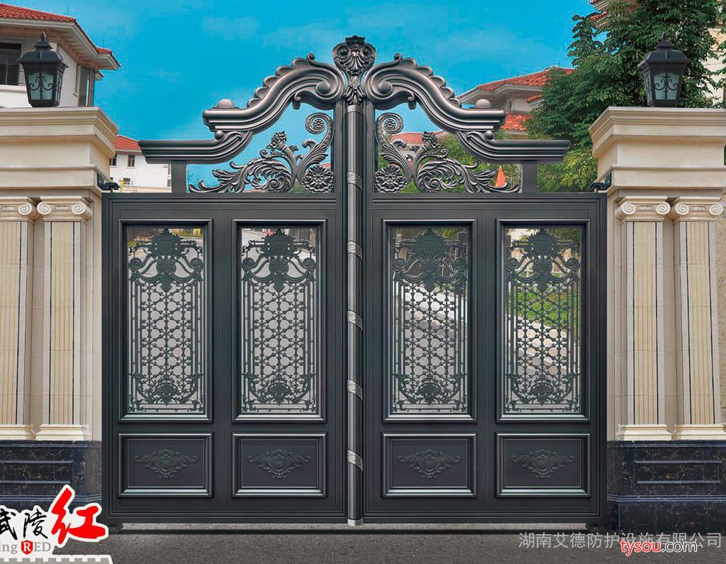 武陵红铜门|铝艺、武陵红阳台护栏、庭院围栏、楼梯扶手