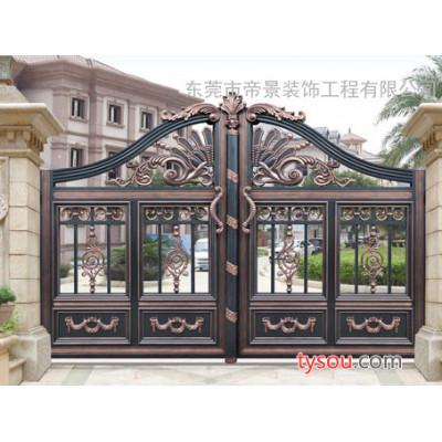 东莞帝景园铝艺,给您大气又超值的别墅铝艺大门