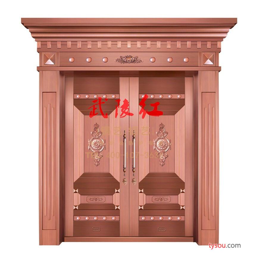 武陵红入户铜门别墅门 铝艺庭院门