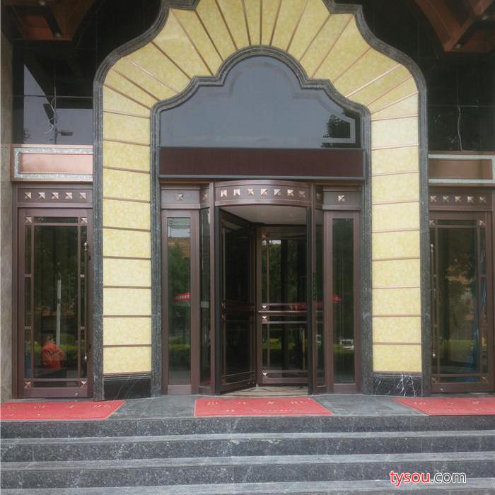 别墅铜门厂家 凯祥门业 玻璃铜门  厂家质量保证旋转铜门