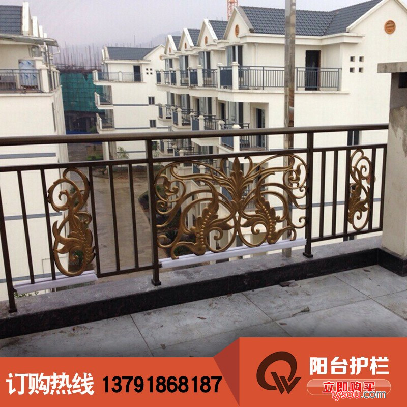 乾盾金属 铸铝合金阳台护栏 别墅阳台护栏艺术护栏观赏栏杆扶手护栏