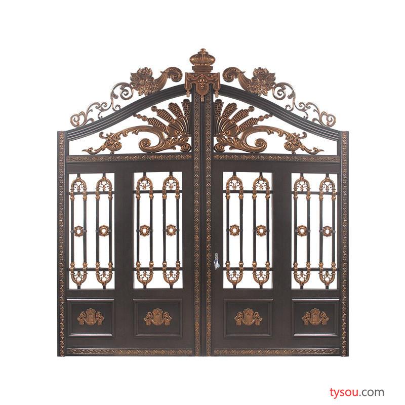别墅庭院围墙大门河北别墅铸铝大门铸铝别墅大门