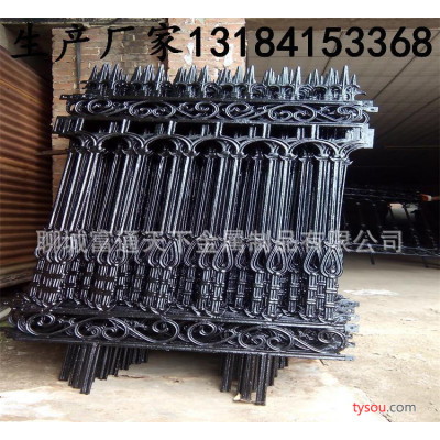 山东小区围墙铁艺护栏 铸铁栏杆 护栏  欧式铁艺护栏大门