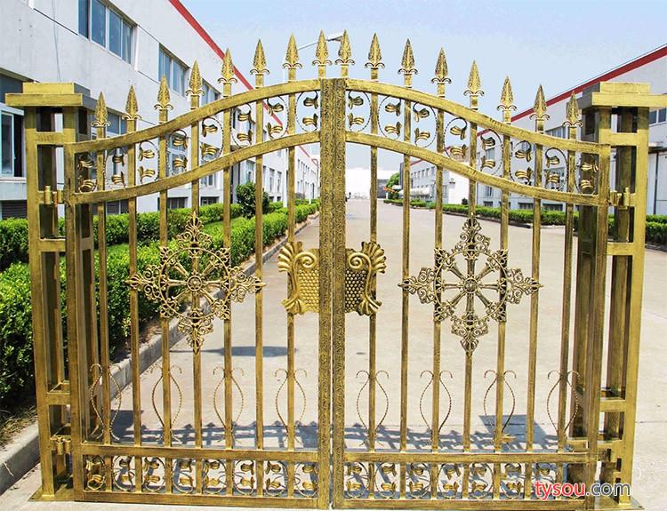 定制铁艺大门欧艺大门庭院大门复古大门锌钢大门镀锌钢