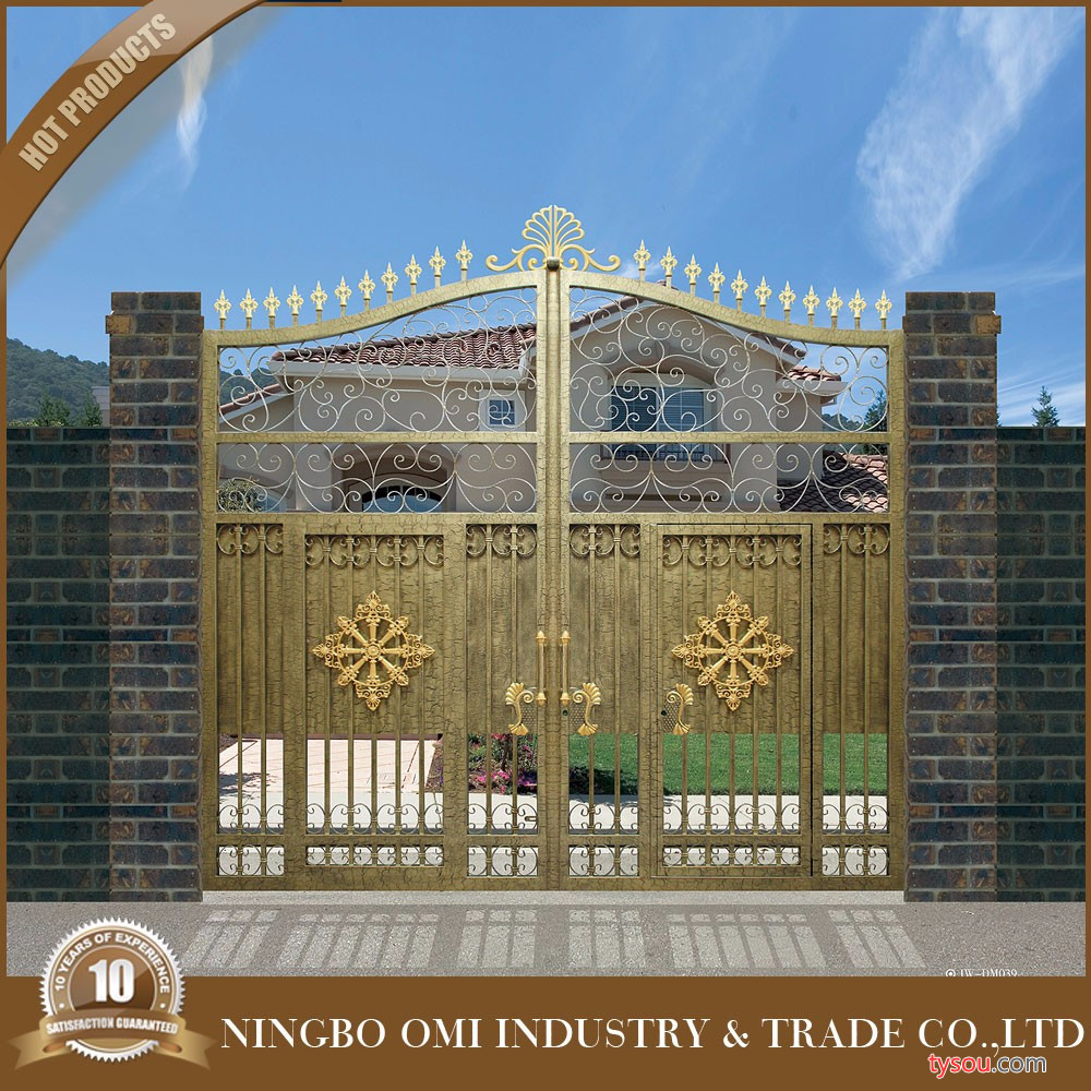 宁波欧美艺铁艺铝艺制作工程有限公司可定制各式铁艺大门与小门、平移门 、电动门,欧美艺艺术门 中式铁艺大门