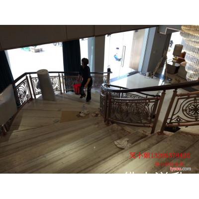 别墅欧式铝艺楼梯铝艺雕花护栏构思搭配建议