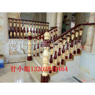 铜艺铜板雕刻楼梯护栏-艺术铜雕花旋转楼梯镂空护栏-