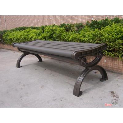 供应环保木公园椅,铸铝脚休闲椅,深圳厂家直销