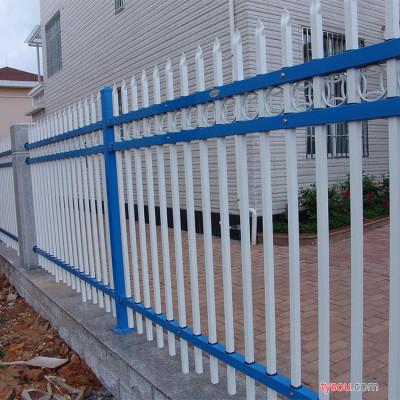 鹏翔铁艺  锌钢蓝色道路围栏 市政道路蓝色栏杆防撞护栏 锌钢栏杆