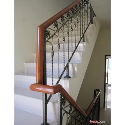 铁艺楼梯扶手 不锈钢304扶手 铁艺楼梯扶手护栏 木质楼梯扶手