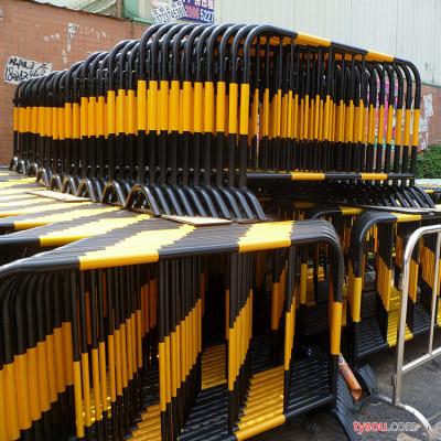 鹏翔铁艺  锌钢金色道路围栏 市政道路金色栏杆防撞黄金护栏 锌钢栏杆