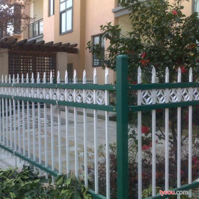 鹏翔铁艺  锌钢围栏 市政道路栏杆防撞黄金护栏 锌钢栏杆