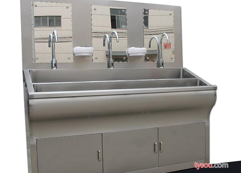 安徽铸信医疗合肥手术室304不锈钢膝控洗手池厂家 合肥304不锈钢感应脚踏洗手池