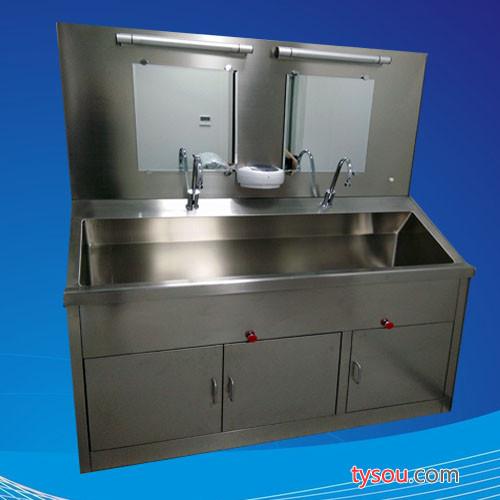 安徽合肥手术室设备304不锈钢膝控洗手池厂家 合肥304不锈钢感应脚踏洗手池