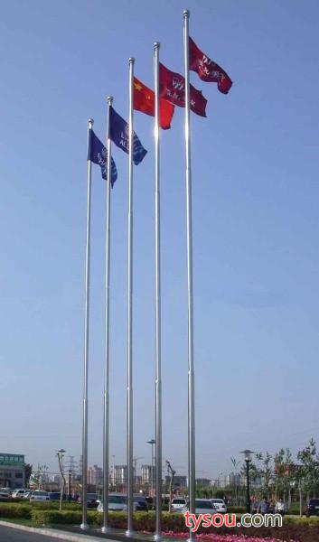 金祈发 供应旗杆厂家 可定做    生产不锈钢内置手摇旗杆