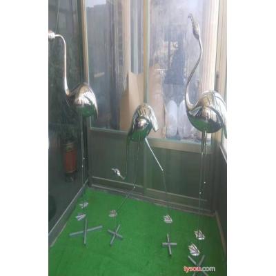 博诚厂家批发  不锈钢鹤雕塑 不锈钢雕塑 质量保障