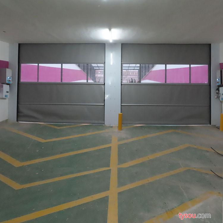厂家直销地下车库快速堆积门、折叠提升车库门