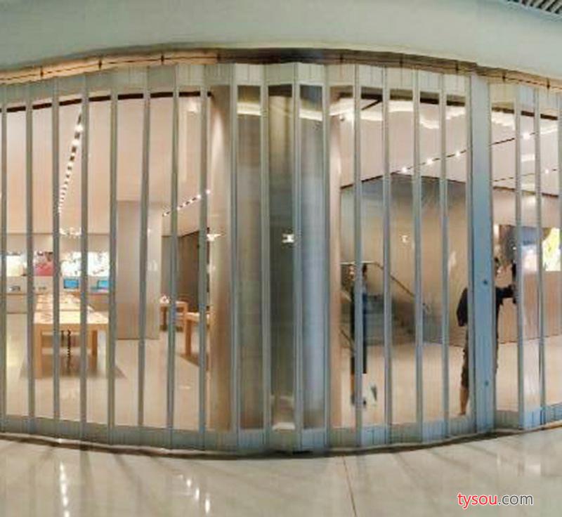 购物广场专用折叠推拉水晶门 手动透明玻璃推拉门 现货直销