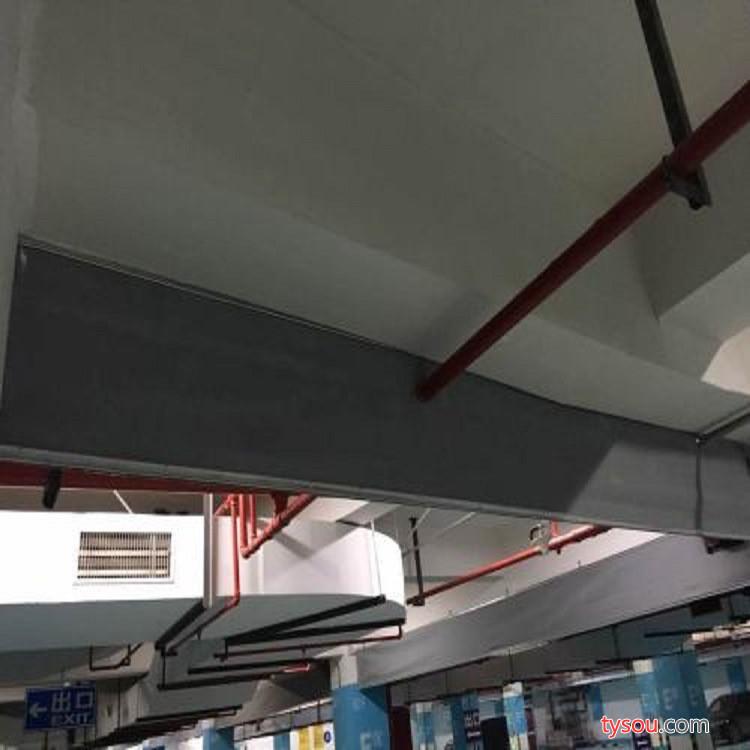 安装挡烟垂壁硅胶防火布固定式柔性挡烟垂壁