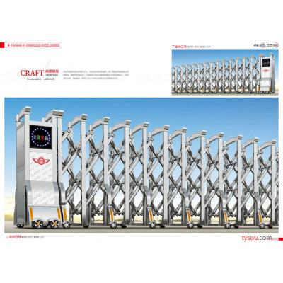 热销供应铝合金电动门 无轨伸缩门 304不锈钢伸缩门