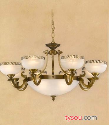 新中式仿古全铜云石灯, 别墅酒店灯饰批发,现代艺术吊灯定做
