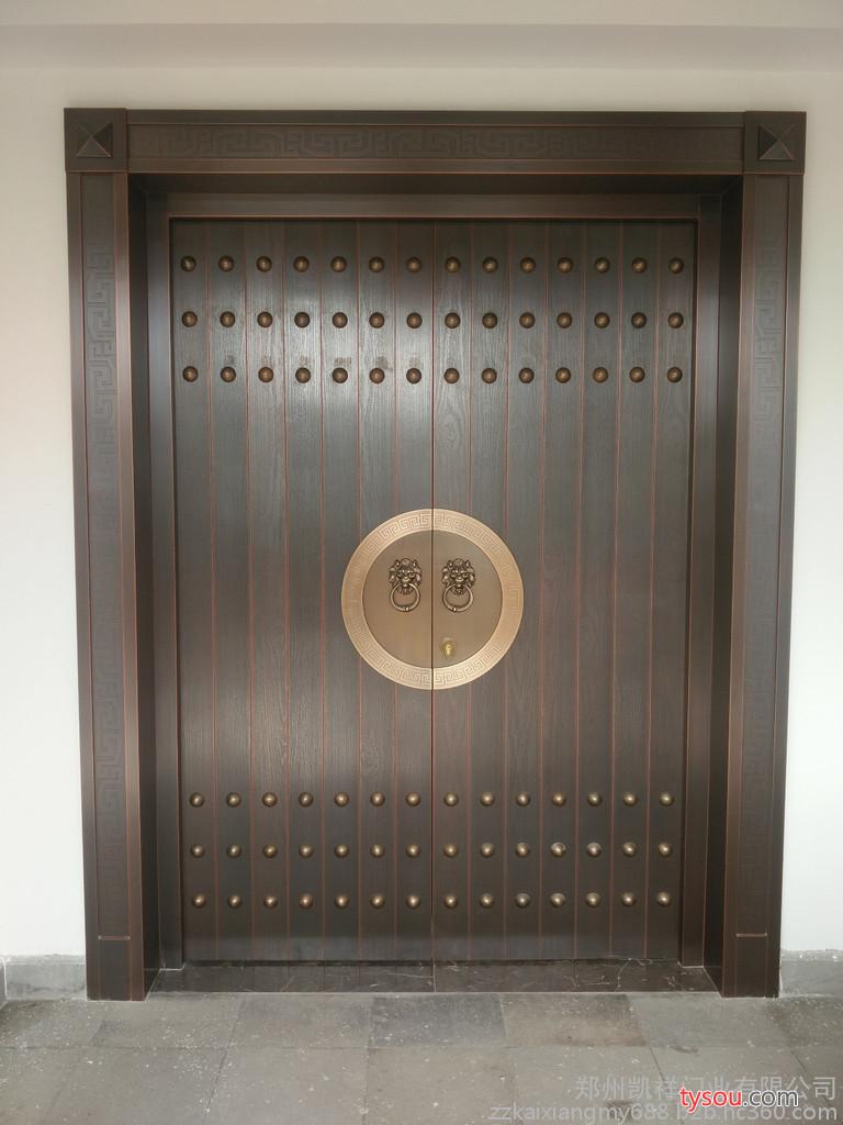 凯祥门业新中式铜门  铜门厂家  铜门价格  定制铜门  定制别墅铜门