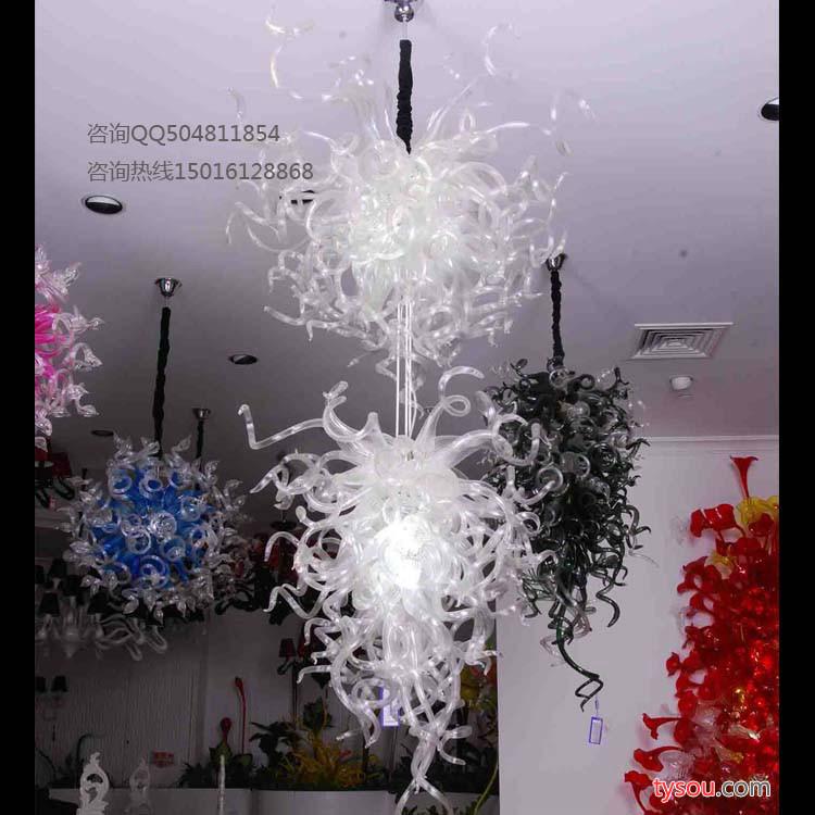 酒吧艺术玻璃灯 后现代玻璃吊灯
