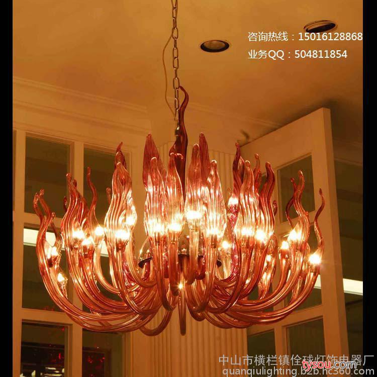 艺术玻璃灯 现代玻璃吊灯 家居装饰玻璃灯客厅客房书房餐厅吊灯