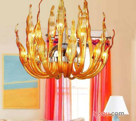 现代玻璃灯 别墅复式楼玻璃艺术灯