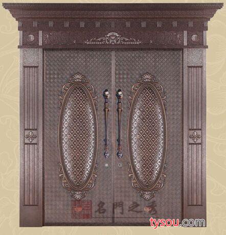 南京别墅铜门,售楼处豪华铜门厂家,别墅铜门价格,洛阳紫铜定制,铜板厚度1.0mm