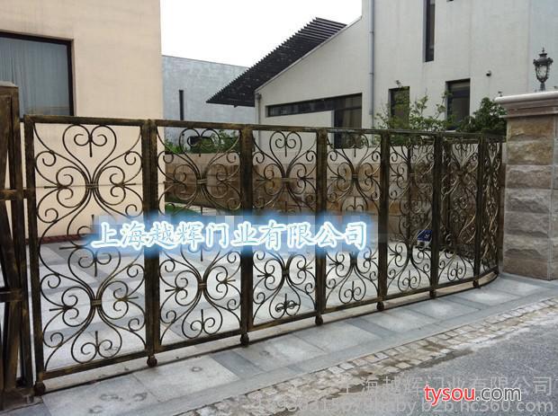 铁艺弧形电动移门 花园移门 别墅大门 庭院大门 折叠门