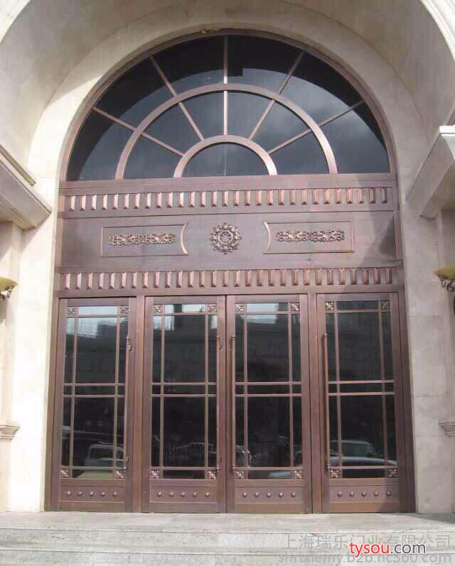 瑞馨铜门玻璃门