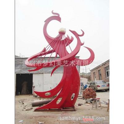 雕塑 大型凤凰不锈钢雕塑 园林景观雕塑 深圳厂家定做大型不锈钢雕塑