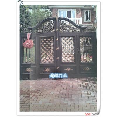 SHYH上海经典铝艺电动遥控大门别墅庭院大门定制大门