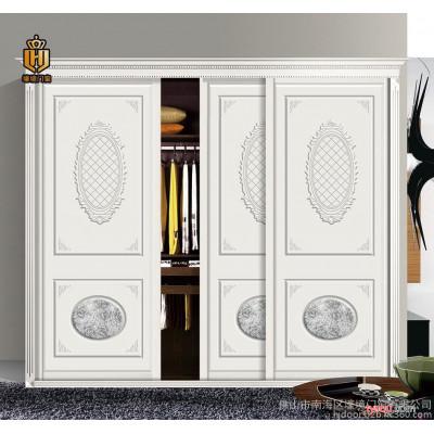 衣柜门  推拉门衣柜门  整体柜门定制  雕刻板移门定做ZZ-5005