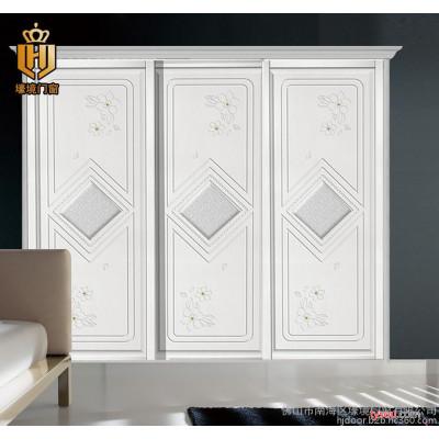 衣柜门定做  推拉门衣柜门  吸塑衣柜门定制  雕刻板移门定做ZZ-5009