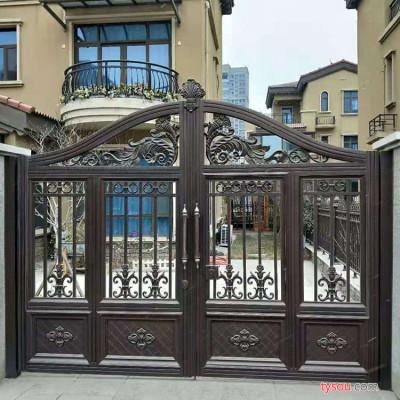 SQJS 铝合金大门  镂空设计别墅庭院平开大门  铸铝大门