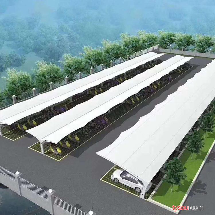 WH潍坊膜结构电动车棚 小型膜结构停车棚厂  膜结构车棚