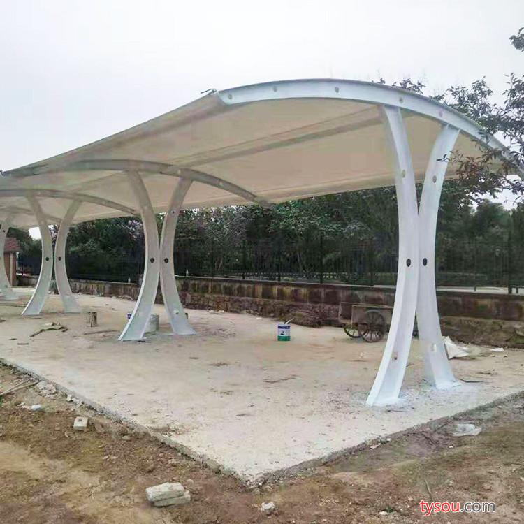WH 膜结构电动车棚 小型膜结构停车棚 价格 膜结构车棚