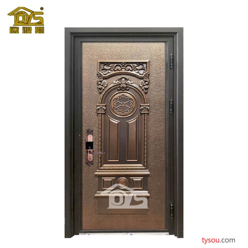 欧雅斯 铸铝防爆门入户门仿铜门铜门