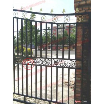 富通铸造铁艺大门、欧式别墅铁艺大门、铸铁门牌坊、铁艺大门批发