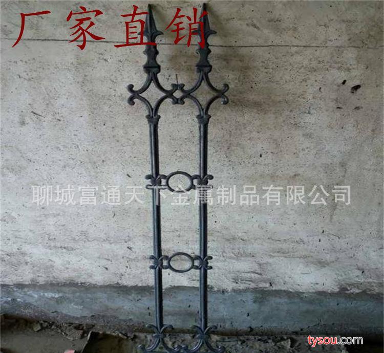 (铁艺护栏厂直销)欧式护栏别墅栏杆上下方管穿接安装方便