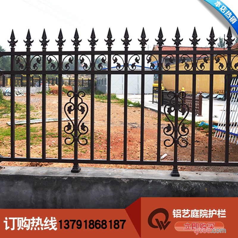 乾盾金属庭院护栏 铸铝合金别墅护栏栏杆铝艺术护栏阳台护栏铝合金防盗窗