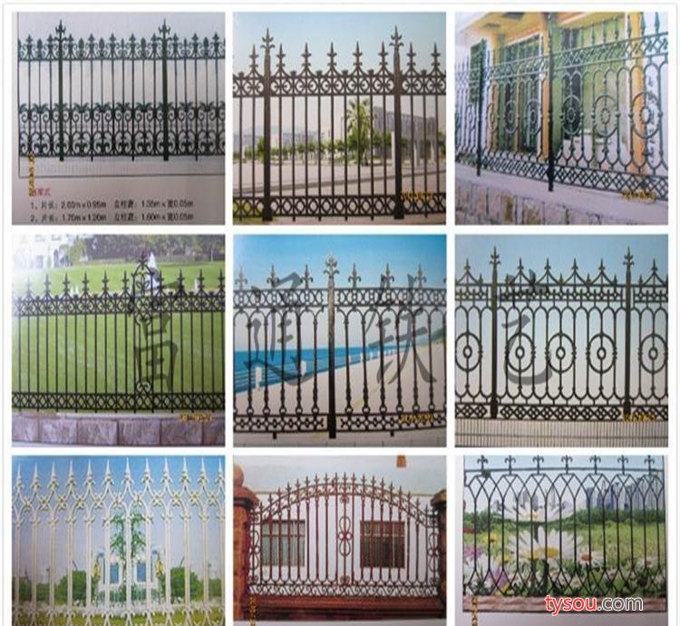 大量小区欧式铁艺护栏 铁艺护栏生产 铸铁别墅铁艺围墙