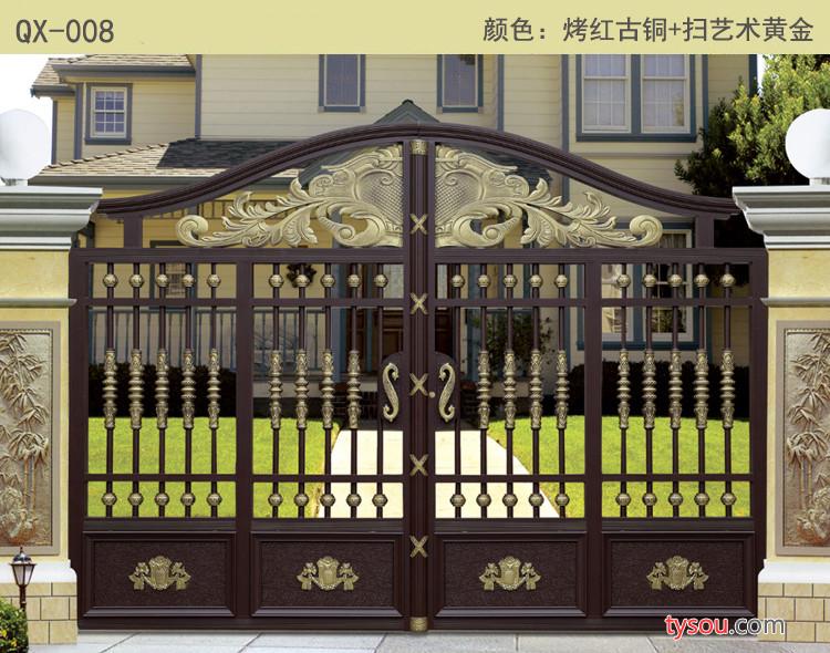 鸿耀金属加工定做铝艺大门 铁艺大门 阳台护栏 新钢草坪护栏 市政护栏