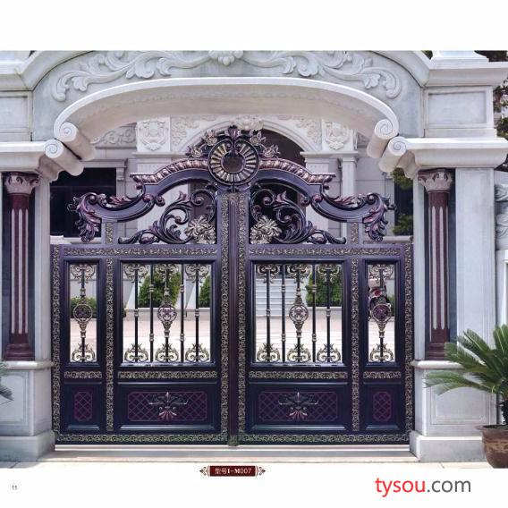 广东佛山厂家热销 铝艺大门 铝合金电动花园门仿古庭院别墅门 100年不生锈