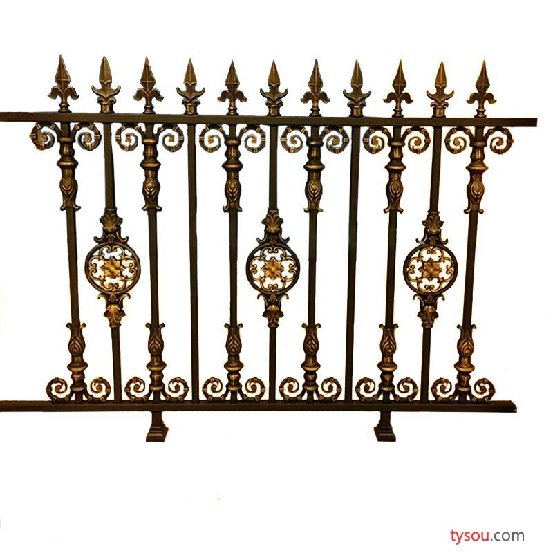 乾盾金属铝艺护栏铝合金围墙围栏别墅 栏杆户外庭院欧式篱笆栅栏围墙护栏