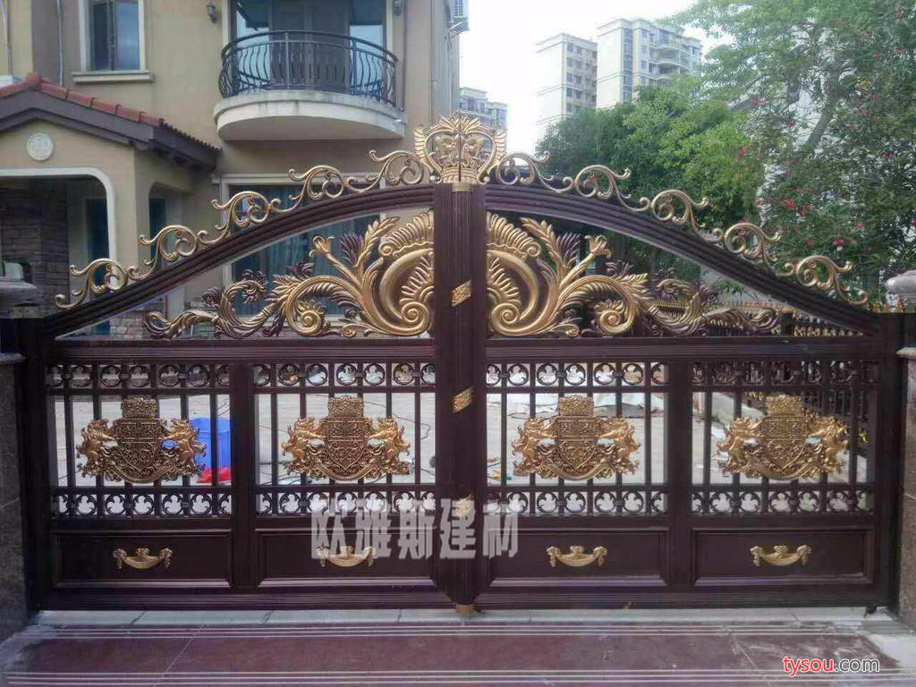 欧雅斯欧雅斯铸铝精雕门、别墅庭院门、铝合金大门定制