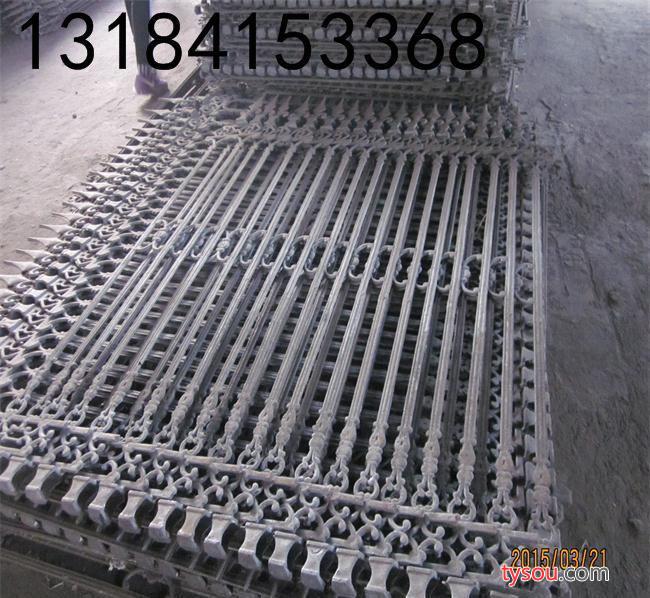 (富通铸件厂)加工订做玛钢护栏小区别墅铁艺围墙铁艺防护栏