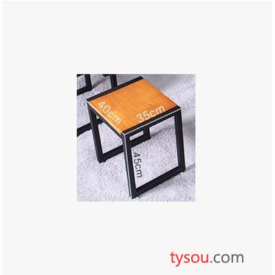 驰联订制批发长方形复古桌星巴克餐饮家用餐桌美式实木餐桌椅桌椅组合
